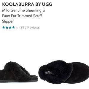 NEW UGG KOOLABURRA Milo Genuine Shearling & Faux Fur Trimmed Scuff Slipper 11
